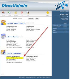 directadmin custom httpd